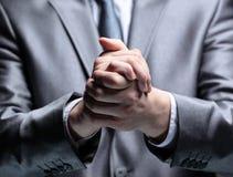 Руки делают бизнесмена прочным Стоковые Изображения