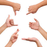 руки жеста собрания различные Стоковые Фотографии RF