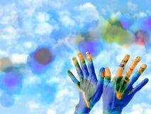 Руки земли Стоковая Фотография