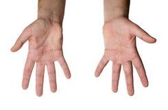 руки изолировали 2 Стоковые Фотографии RF