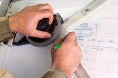 Руки инженера Стоковые Изображения