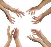 Руки исцелителя в 4 положениях Стоковая Фотография RF