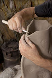 Руки и глина Стоковая Фотография RF