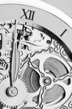 Руки и механизм часов Стоковое фото RF