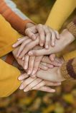 Руки, который держат совместно Стоковые Фото
