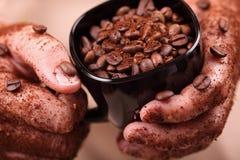 Руки кофе Стоковое фото RF