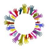 Руки круга красочные Стоковое Изображение RF