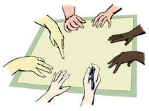 Руки людей Стоковая Фотография RF