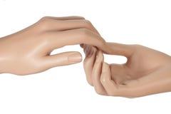 Руки манекена Стоковые Изображения