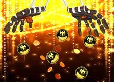 Падение золотых монеток Стоковое Изображение RF