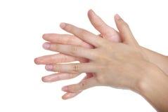 руки моя женщину стоковая фотография