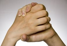 руки над белизной Стоковая Фотография RF