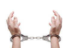 руки наручников Стоковые Изображения