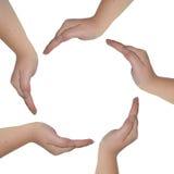 Руки на белой предпосылке Стоковая Фотография