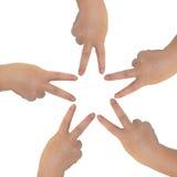 Руки на белой предпосылке Стоковые Фотографии RF