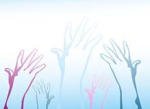 Руки достигают вверх бесплатная иллюстрация