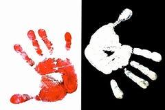 Руки отпечатка Стоковое фото RF