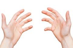 Руки от первой точки зрения персоны Стоковая Фотография RF