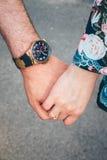 Руки пар Любовь Стоковое Изображение RF
