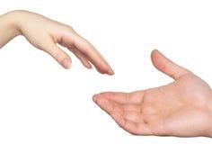 руки пар Стоковые Фото