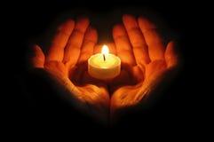 руки пламени Стоковые Фото