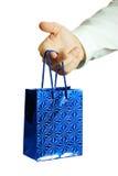 руки подарка бизнесмена Стоковая Фотография RF