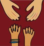 руки помогая вектору иллюстрация штока