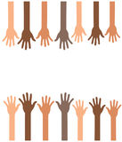 Руки поднимают предпосылку Стоковое фото RF