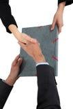 руки предпринимателей трястия 2 Стоковое Изображение RF