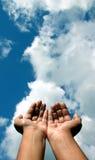 руки признавая Стоковые Фотографии RF