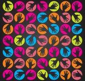 руки принципиальной схемы предпосылки Стоковая Фотография RF