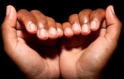 руки принципиальной схемы эмоциональные держа совместно женщину 2 Стоковая Фотография
