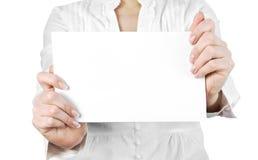 руки пустой карточки стоковые фотографии rf