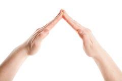 руки расквартировывают сделано Стоковая Фотография RF