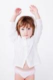 руки ребенка милые стоя вверх Стоковая Фотография RF
