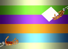 Руки робота на striped предпосылке Стоковая Фотография