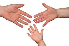 руки семьи Стоковая Фотография RF
