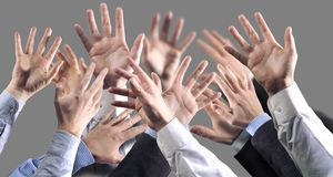 руки серого цвета предпосылки Стоковые Фото