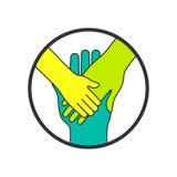 Руки Символ семьи и концепции единения Стоковые Изображения RF