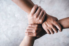 Руки совместно показывая сыгранность Стоковое Фото