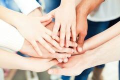 Руки совместно Стоковое Изображение RF
