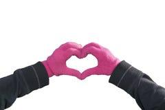 Руки создавая фото сердца изолированное формой Стоковое Фото