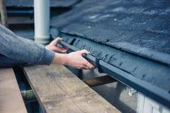 Руки стока отладки работника Стоковое Фото