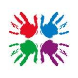 Руки сыгранности Стоковые Фотографии RF