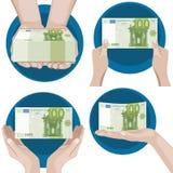 Руки с деньгами Стоковое Фото