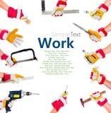 Руки с инструментами Стоковая Фотография RF