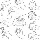 Руки с объектом Стоковые Фото