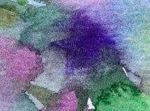 Руки украшения watertexture моря предпосылки акварели обои абстрактной красивые Стоковая Фотография