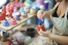 Руки художника женщины Стоковая Фотография