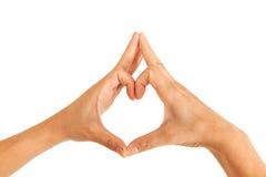 Руки человека влюбленности Стоковые Изображения RF